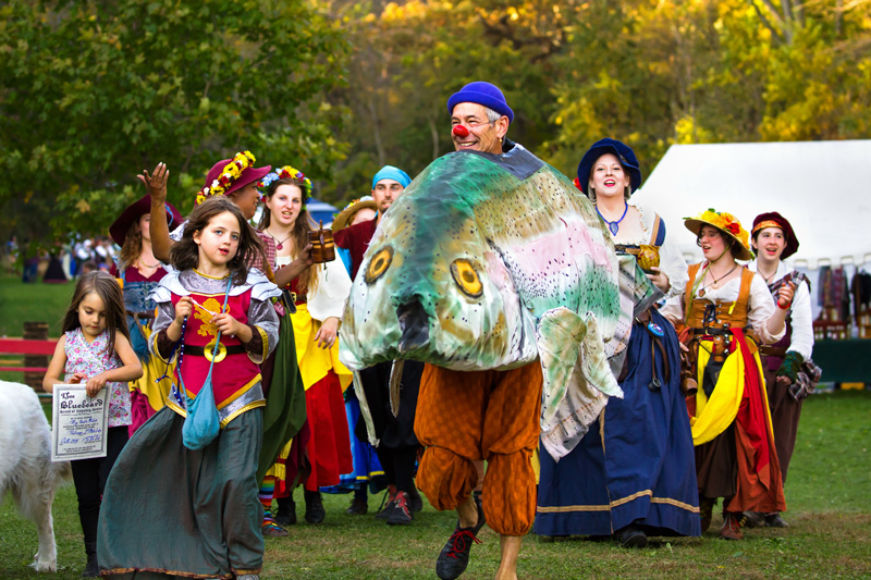 Jacob big o trout puppet leading the parade, image by Kirk Lawler