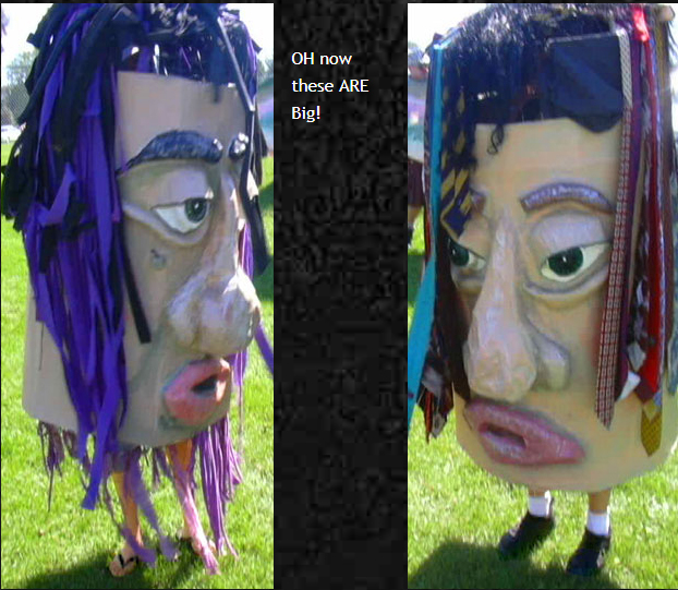 Big head puppets