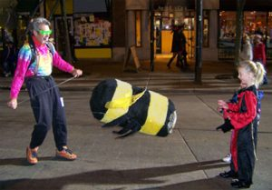 Jacob mills as big-o-bee, parade star