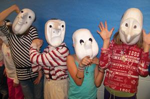 School assemblies - kids in masks