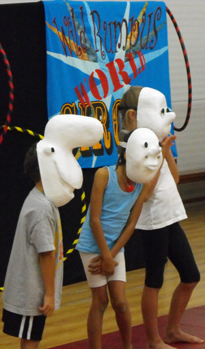 School assemblies - kids in masks